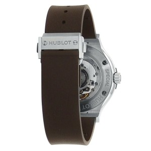 Hublot Classic Fusion Titanium Brown Rubber Ladies Watch 565.NX.1191.RX.PLP17