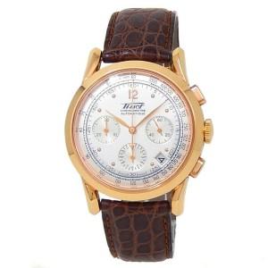 Tissot Heritage 150th Anniversary 18k Rose Gold Silver Men's Watch