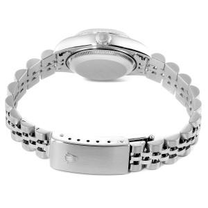 Rolex Datejust Ladies Steel 18k White Gold Watch 79174 Box Paper