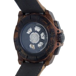 Corum Admiral's 45 Bronze Leather Auto Chronograph Wood Men's Watch A116/03210