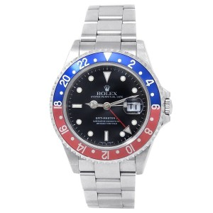 Rolex GMT-Master II Stainless Steel Oyster Automatic Black Men's Watch 16710