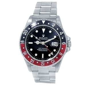 """Rolex GMT-Master """"Coke"""" Stainless Steel Oyster Auto Black Men's Watch 16700"""