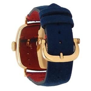 Robert Lighton Hudson 18k Yellow Gold Blue Suede Automatic White Men's Watch