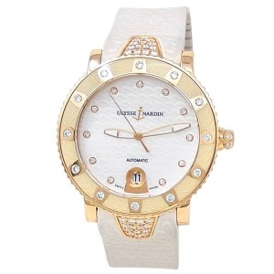Ulysse Nardin Lady Marine Diver 18k Rose Gold Auto Ladies Watch 8106-101E3C/10