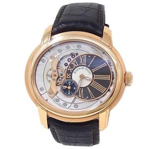 Audemars Piguet Millenary 18k Rose Gold Leather Grey Watch