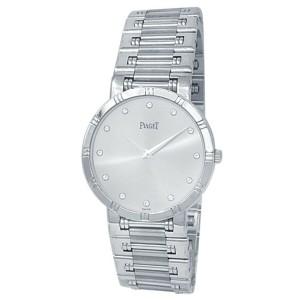 Piaget Dancer 18k White Gold Quartz Diamonds Silver Ladies Watch 84023 K 81