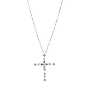 Harry Winston Madonna Cross Pendant Necklace Platinum with Diamonds 1.55CTS. TW.