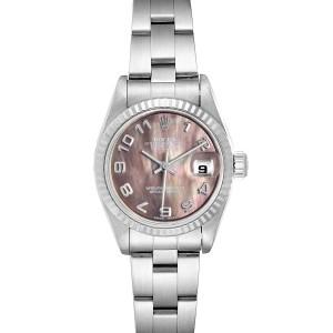 Rolex Datejust 26 Steel White Gold MOP Ladies Watch 79174 Box Papers