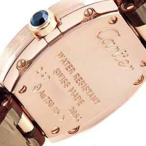 Cartier Baignoire Silver Dial Yellow Gold Diamond Ladies Watch W8000007