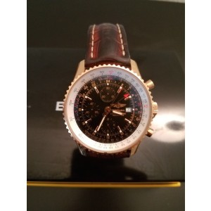 Breitling Navitimer R24322 18K Rose Gold Automatic 46mm Mens Watch
