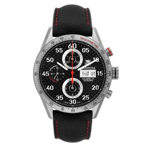 Tag Heuer Carrera Calibre 16 Titanium Day Date Mens Watch CV2A80 Box Card