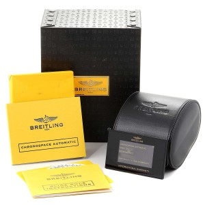 Breitling Chronospace Black PVD Limited Edition Watch M23360 Box Papers