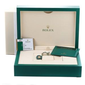 Rolex President Ice Blue Dial Platinum Diamond Ladies Watch 279136 Box Card