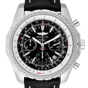 Breitling Bentley Grey Dial Chronograph Steel Mens Watch A25362