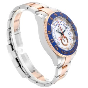 Rolex Yachtmaster II Rolesor EveRose Gold Steel Mens Watch 116681