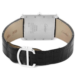 Cartier Tank Louis XL White Gold Diamond Mens Watch WT200006 Box Papers