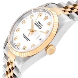 Rolex Datejust 36 Steel Yellow Gold Diamond Mens Watch 16233
