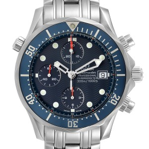 Omega Seamaster Bond Chrono Blue Wave Dial Mens Watch 2599.80.00