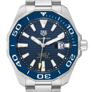 Tag Heuer Aquaracer Blue Dial Steel Mens Watch WAY201B Box Papers