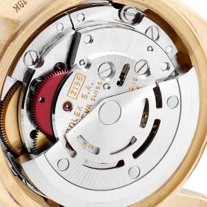 Rolex President Datejust Yellow Gold Black Diamond Dial Ladies Watch 69178