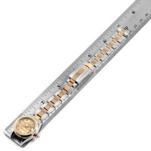 Rolex Datejust Steel Yellow Gold White Dial Ladies Watch 179173