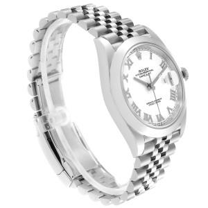 Rolex Datejust 41 White Dial Steel Mens Watch 126300 Box Card Unworn