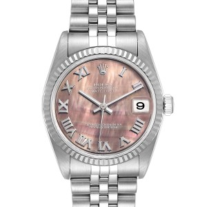 Rolex Datejust Midsize Steel White Gold MOP Dial Ladies Watch 78274