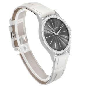 Patek Philippe Calatrava White Gold Grey Dial Diamond Ladies Watch 4898