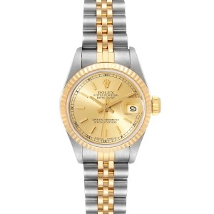Rolex Datejust Steel Yellow Gold Ladies Watch 69173 Box