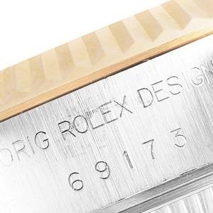 Rolex Datejust Steel Yellow Gold Fluted Bezel Ladies Watch 69173