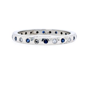 Jeff Cooper R-3008 Platinum Sapphire, Diamond Ring