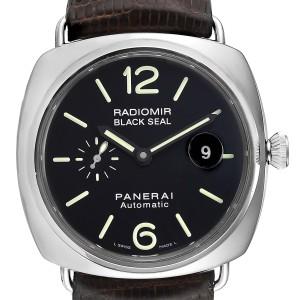 Panerai Radiomir Black Seal Automatic Steel Mens Watch PAM00287 Box Papers
