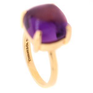 Tiffany & Co. 18k Gold and Amethyst Sugar Stack Ring
