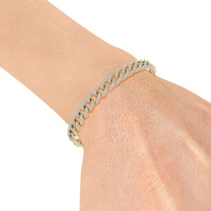 GLAM ® Bracelet Chain in 18K gold and 1.44ct White Diamonds