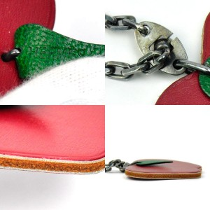 Hermes Metal Leather Charm Pendant