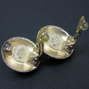 Chanel Gold And Silver Plated Earrings