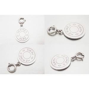 Hermes Silver Tone Metal Pendant