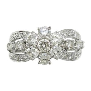 Cartier 18K White Gold  X Diamond Ring