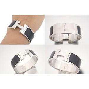 Hermes Silver-Tone Metal Bracelet