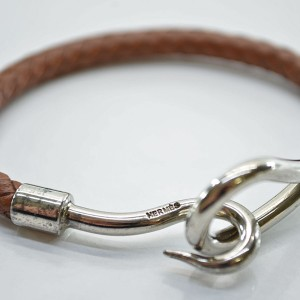 Chanel Metal Leather Bangle Bracelet