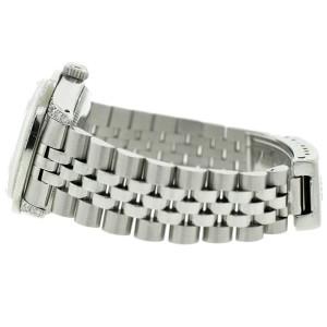 Rolex Datejust 31mm Steel Jubilee Watch with Diamond Bezel/Lugs/MOP Roman Diamond Dial