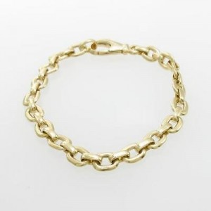 Cartier 18K Yellow Gold Charm Chain Bracelet Size:16cm