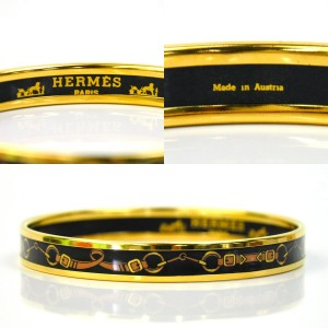 Hermes Metal Cloisonne Bangle Bracelet