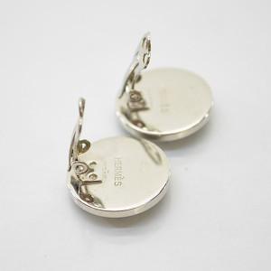 Hermes Metal Enamel Earrings