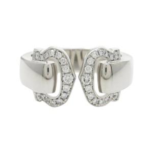 Cartier 18K White Gold Bukuruse Small Ring Size 4.75