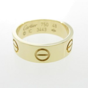 Cartier 750 Yellow Gold Love Ring Size 4.5