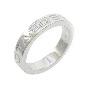 Bulgari 750 White Gold Double Logo Ring