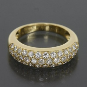Cartier 18K Yellow Gold Mini Star Pave Diamonds Ring Size 7