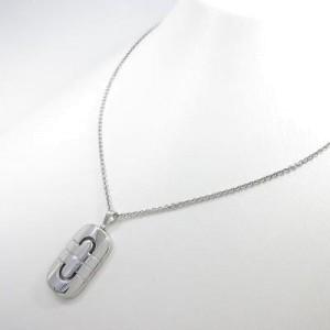 Bulgari 750 White Gold Parenteshi Necklace