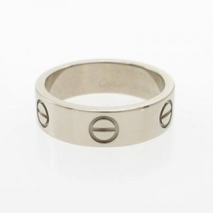 Cartier 750 White Gold Love Ring Size 6.25